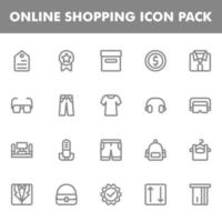 icon pack dello shopping online