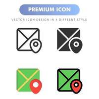 icona della mappa per il design del tuo sito web, logo, app, interfaccia utente. illustrazione grafica vettoriale e tratto modificabile. icona design eps 10.