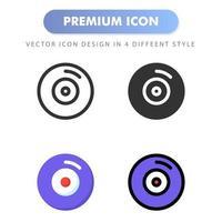 icona del disco per il design del tuo sito web, logo, app, ui. illustrazione grafica vettoriale e tratto modificabile. icona design eps 10.