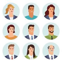 avatar di uomini d'affari vettore