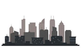 illustrazione della priorità bassa bianca di affari dell'orizzonte di paesaggio urbano della costruzione della città vettore
