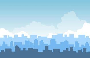 illustrazione di affari dell'orizzonte di paesaggio urbano della costruzione della città in pila vettore