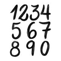 Collezione di numeri di inchiostro vettore