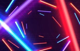 sfondo colorato luce al neon vettore