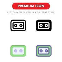 icon pack cassetta audio isolato su priorità bassa bianca. per il design del tuo sito web, logo, app, ui. illustrazione grafica vettoriale e tratto modificabile. eps 10.