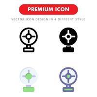 icon pack fan table isolato su sfondo bianco. per il design del tuo sito web, logo, app, ui. illustrazione grafica vettoriale e tratto modificabile. eps 10.