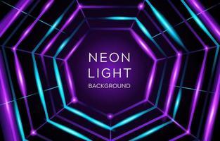 sfondo di luce al neon geometrica vettore