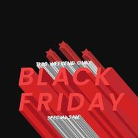 concetto di banner di vendita venerdì nero vettore