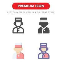 pacchetto di icone fattorino isolato su priorità bassa bianca. per il design del tuo sito web, logo, app, ui. illustrazione grafica vettoriale e tratto modificabile. eps 10.