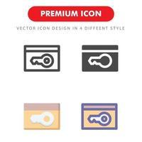 pacchetto dell'icona della carta chiave isolato su priorità bassa bianca. per il design del tuo sito web, logo, app, ui. illustrazione grafica vettoriale e tratto modificabile. eps 10.