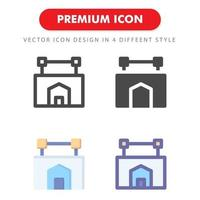 pacchetto dell'icona del segno dell'hotel isolato su priorità bassa bianca. per il design del tuo sito web, logo, app, ui. illustrazione grafica vettoriale e tratto modificabile. eps 10.