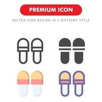 pacchetto di icone di pantofole isolato su priorità bassa bianca. per il design del tuo sito web, logo, app, ui. illustrazione grafica vettoriale e tratto modificabile. eps 10.