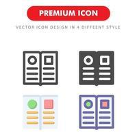 pacchetto di icone del menu isolato su priorità bassa bianca vettore
