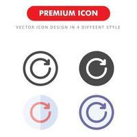Aggiorna icon pack isolato su sfondo bianco. per il design del tuo sito web, logo, app, ui. illustrazione grafica vettoriale e tratto modificabile. eps 10.
