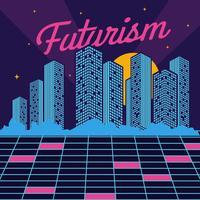 vettore di città del futurismo