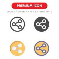Condividi icon pack isolato su sfondo bianco. per il design del tuo sito web, logo, app, ui. illustrazione grafica vettoriale e tratto modificabile. eps 10.