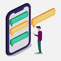 illustrazione di concetto di chat persone vettore