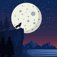 Luna Space Scape Background