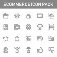 pacchetto di icone di e-commerce isolato su priorità bassa bianca. per il design del tuo sito web, logo, app, ui. illustrazione grafica vettoriale e tratto modificabile. eps 10.