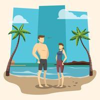 barbone sulla spiaggia