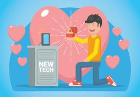 Innamorato dell'illustrazione tecnologica