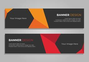 Banner Design, intestazione Web aziendale vettore
