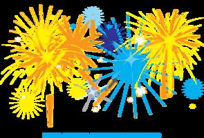 fuochi d'artificio sfondo bianco Illustrazione vettore