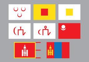 Bandiera mongola vettore