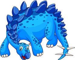 un personaggio dei cartoni animati di dinosauro stegosauro vettore