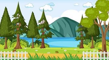scena del paesaggio del parco naturale vuoto vettore
