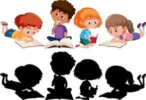 set di diversi personaggi dei cartoni animati per bambini vettore