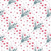 cuore seamless pattern. sfondo di San Valentino. illustrazione vettoriale