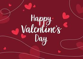 carta di San Valentino con cuori rossi. forme astratte di banner di vendita di giorno di San Valentino. promozione dei prezzi vettore