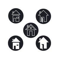 casa logo e simbolo icona disegno vettoriale
