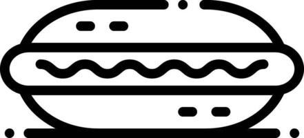 icona linea per hot dog vettore
