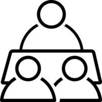 icona linea per affari vettore