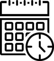 icona della linea per il tempo vettore