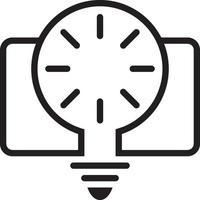 icona della linea per la creatività vettore