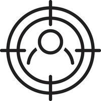 icona della linea per il target vettore