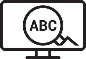 icona linea per parola chiave vettore