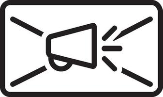icona della linea per la posta elettronica vettore