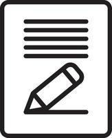 icona della linea per il contenuto vettore