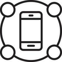 icona della linea per le funzionalità vettore