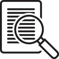 icona della linea per il caso vettore
