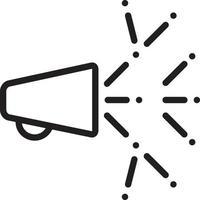 icona linea per virale vettore