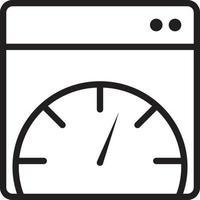 icona della linea per la pagina vettore