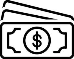 icona linea per contanti vettore