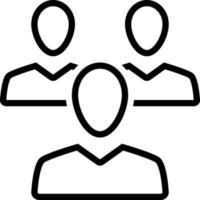 icona della linea per i clienti vettore