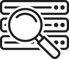 icona della linea per il database vettore