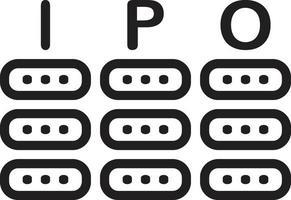 icona linea per ipo vettore